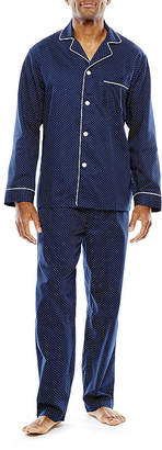 STAFFORD Stafford Men's Sateen Long Sleeve/Long Leg Pajama Set - Big and Tall
