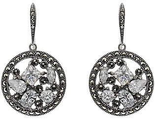 Suspicion Sterling Marcasite & Cubic Zirconia Dangle Earrings