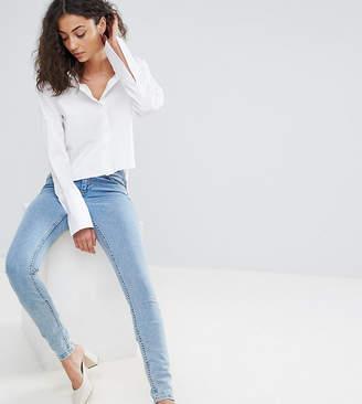ASOS Tall ASOS TALL Lisbon Midrise Skinny Jeans in Darwin Wash
