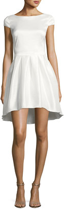 Marina Cap-Sleeve A-Line Cocktail Dress, White $139 thestylecure.com