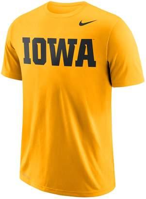 Nike Men's Iowa Hawkeyes Wordmark Tee