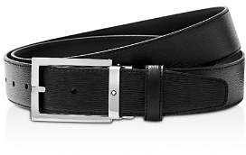 Montblanc Rectangular Shiny Pin Buckle Belt