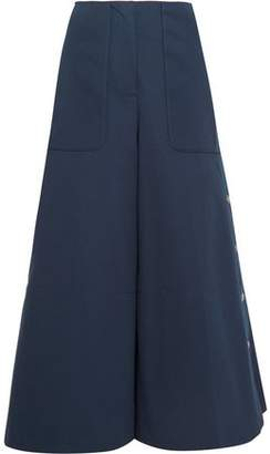 Sonia Rykiel Embellished Cotton-Blend Twill Wide-Leg Pants