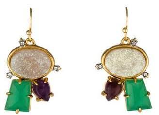 Alexis Bittar Druzy & Multistone Cluster Drop Earrings