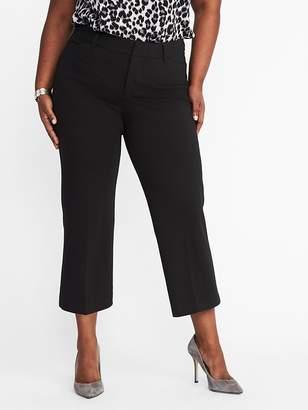 Old Navy Secret-Slim Plus-Size Ponte-Knit Pixie Ankle Trousers