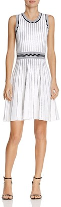 MILLY Textured Stripe Dress $450 thestylecure.com