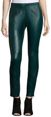 Neiman Marcus Stretch Leather Leggings $450 thestylecure.com