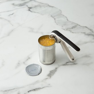 Chef'N EZ Squeeze Can Opener - One Handed Design - Black and Meringue