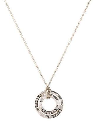 Ippolita Diamond Disc Pendant Necklace