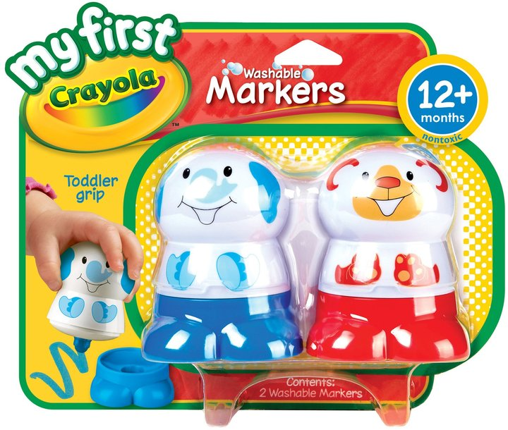 Crayola My First Washable Character Marker - Red & Blue