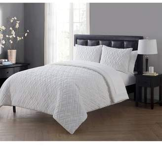 VCNY Home Lattice Embossed 5/7-Piece Bed in a Bag Comforter Set with Sheet Set, Multiple Colors and Sizes Available