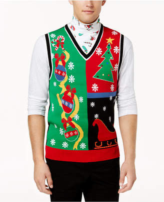 American Rag Men's Ugly Holiday Sweater Vest, Created for Macy's