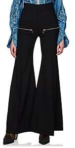 Chloé Women's Virgin Wool Multi-Zip Flared Pants - Black