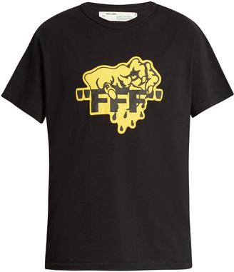 OFF-WHITE Horror cotton T-shirt $191 thestylecure.com