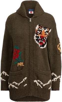 Ralph Lauren Intarsia-Knit Shawl Cardigan