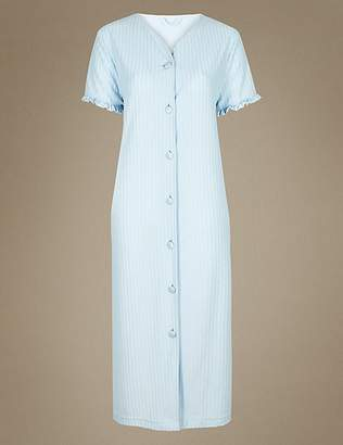 Marks and Spencer Striped Short Sleeve Dressing Gown