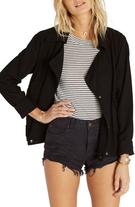 Billabong Just Like Me Drape Front Jacket $99.95 thestylecure.com
