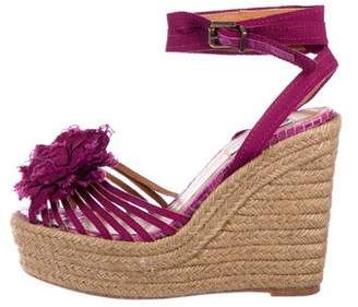 Lanvin Peep-Toe Espadrille Sandals