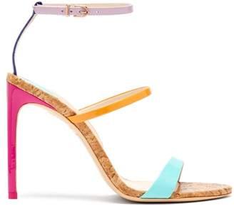 Sophia Webster Rosalind Rainbow Cork Sole Sandals - Womens - Multi