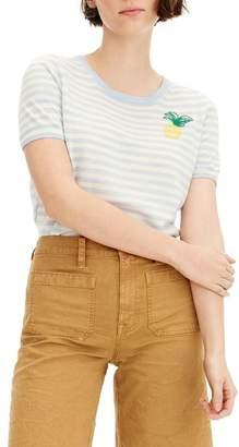 J.Crew J. Crew Tippi Pineapple Stripe Short Sleeve Sweater