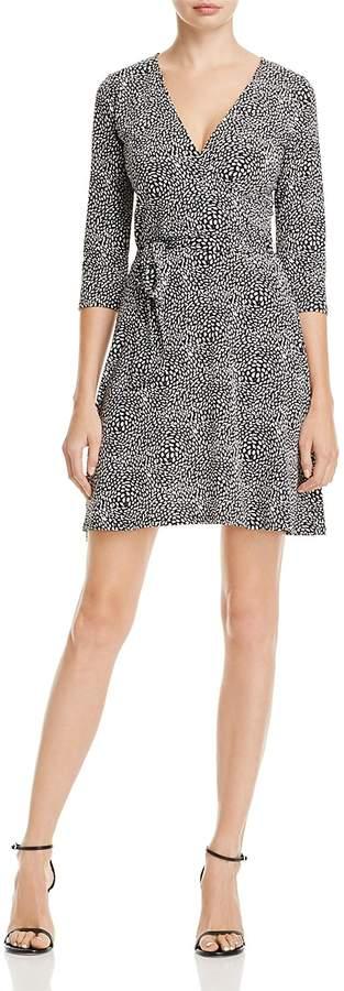 Leota Graphic Print Faux Wrap Dress