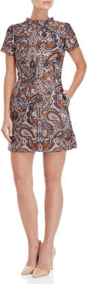Maje Paisley Jacquard Dress