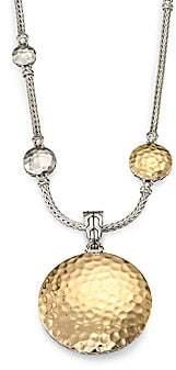 John Hardy Women's Palu 18K Yellow Gold & Sterling Silver Medium Round Enhancer