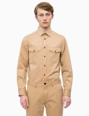 Calvin Klein slim fit cotton twill uniform shirt