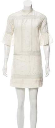Ulla Johnson Short Sleeve Mini Dress
