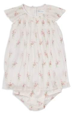 Ralph Lauren Girls' Pleated Floral Crepe Dress & Bloomers Set - Baby
