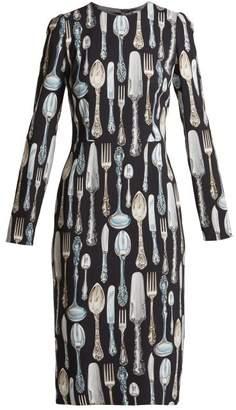 Dolce & Gabbana Cutlery Print Dress - Womens - Black Print