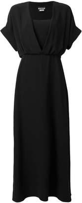 Moschino flared V-neck dress