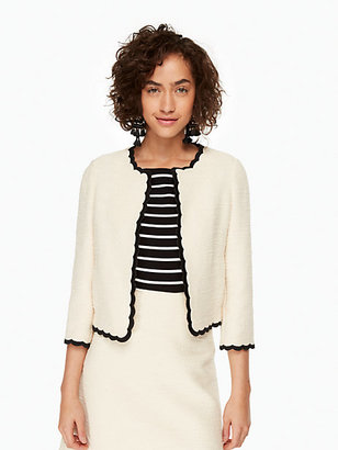 Scallop tweed jacket $428 thestylecure.com