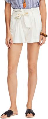 Free People Everywhere You Go Paperbag Waist Shorts