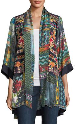 Johnny Was Koben Canvas Embroidered Twill Kimono, Petite