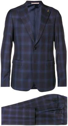 Paoloni checked two piece suit