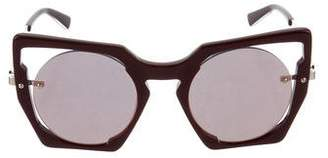 MCM Square Reflective Sunglasses