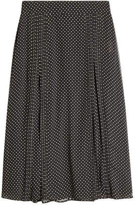 Burberry Silk Polka Dot Skirt