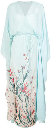 Vionnet sheer wrap style front dress