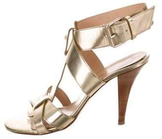 Robert Clergerie Metallic High-Heel Sandals