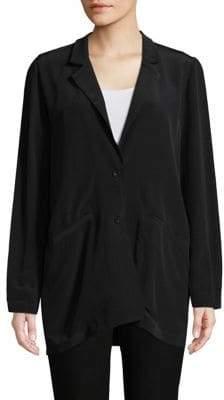 Eileen Fisher Notch Collar Long Jacket