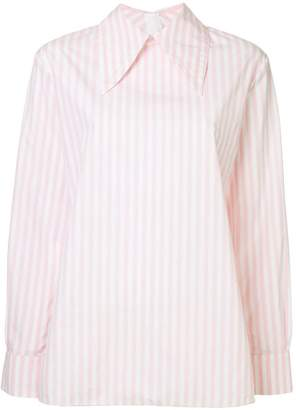Marni striped oversized collar shirt