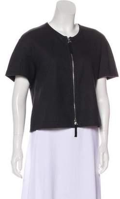 Dries Van Noten Short Sleeve Zip-Up Jacket