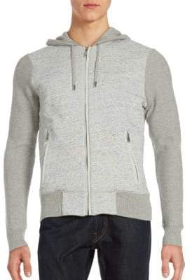 Kent & Curwen Cotton & Cashmere Long Sleeve Hoodie