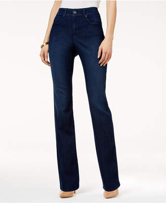 Style & Co Tummy-Control Straight-Leg Jeans, Created for Macy's $49 thestylecure.com