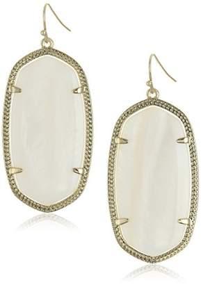 "Kendra Scott Signature"" Danielle Gold plated White Drop-Earrings"
