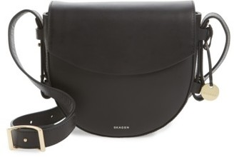 Skagen Lobelle Leather Saddle Bag - Black $195 thestylecure.com