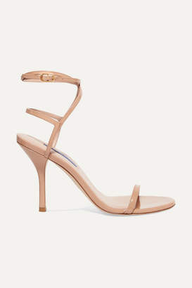Stuart Weitzman Merinda Patent-leather Sandals - Neutral