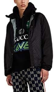 Gucci Men's Logo Tech-Taffeta Windbreaker - Black
