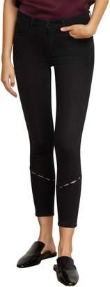 Habitual Marina Perforation Detail Skinny Ankle Jeans